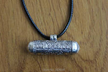 SL027 Tibetan 925 sterling silver Prayer box Pendants Tibet Eight Auspicious Cylinder GAU Box Amulet Handmade Nepal Jewelry(China)