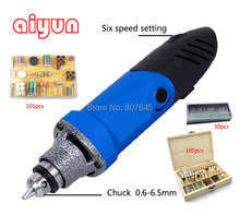 6.5mm electric grinder, die grinder, mini grinder set including (105pcs+100pcs+30pcs)