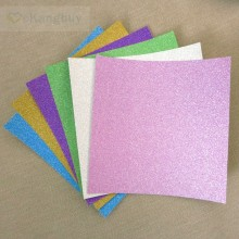 15x15cm Glitter Paper 6 Colors Origami Paper Scrapbooking Decor Paper 12sheets(China)