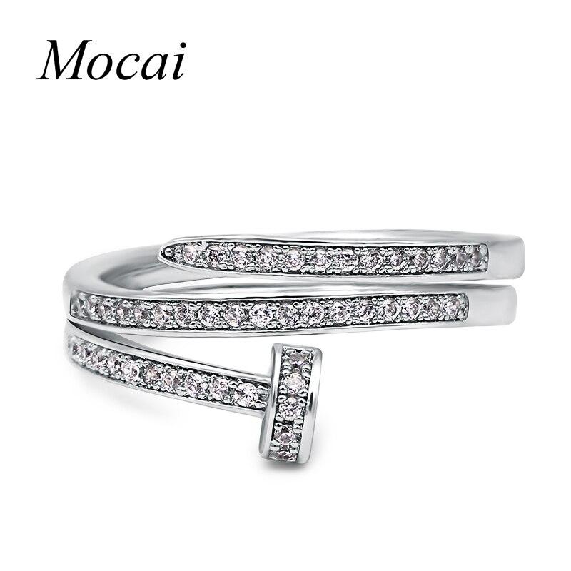 Модные Простые ногтей Кольца циркон проложили крошечные тонкие CZ камень серебро/розовое золото Цвет двойной Слои Для женщин jewelry ZK35(China)