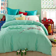 new 4-5 pcs Christmas reindeer pattern bedding sets green colorful cotton duvet cover bed sheet comforter sets full queen size
