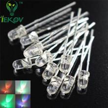 IEKOV 50 LED 3MM RGB Slow Flash Red Green Blue Emitting Diodes +50 X 3MM LED RGB  Fast  Red Green Blue Rainbow Multi Color LEDs