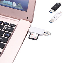 Multifunction 3-in-1 ype C To USB 2.0/Micro USB Adapter SD/Micro Card Reader with Type C High Speed Universal for Smartphones/PC