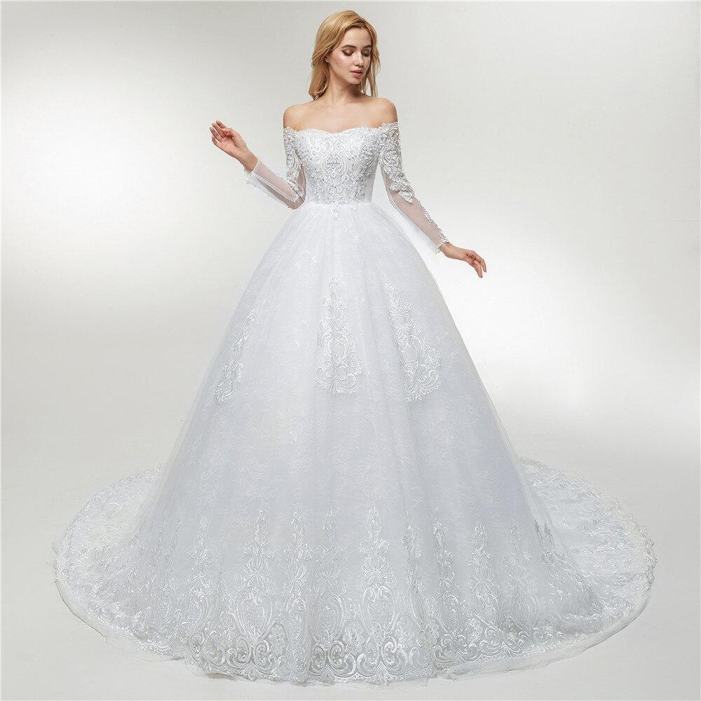 Fansmile Applique Vintage Lace Gowns Wedding Dress Plus Size 2018 ...