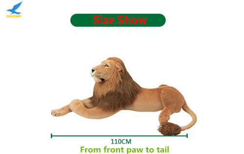 Fancytrader 43\'\' Giant Plush Stuffed Simulation Lifelike Lion King Simba Can be Rided by Kids Great Gift FT90284 (16)
