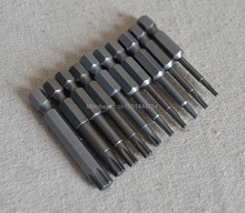 New 10pc/set S2 Hex screwdriver bit TORX T6 T7 T8 T9 T10 T15 T20 T25 T30 T40 Bit tools Magnetic Screwdriver bit Air tools