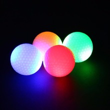 2 Pcs Dark Night Tracker Flashing Light Up Glow Golf Balls LED Electronic Golfing Training Sports