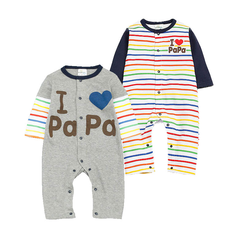 New Fashion Clothes Long Sleeve Baby Rompers I LOVE PAPA MAMA Newborn Jumpsuit Baby Boy Clothes Baby Girl Clothes Bebes Costume<br><br>Aliexpress