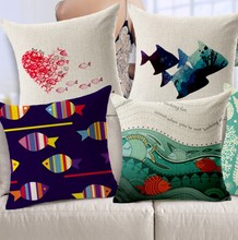 Marine Theme Biological Starfish Vast Beautiful Fish Pillow Massager Cool Pillows Home Bar Show Warm Home Gift(China)