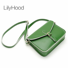 LilyHood Women Genuine Leather Shoulder Bag Fashion Vintage Leisure Casual Everybag Book Yellow Green Satchel Crossbody Bags(China)