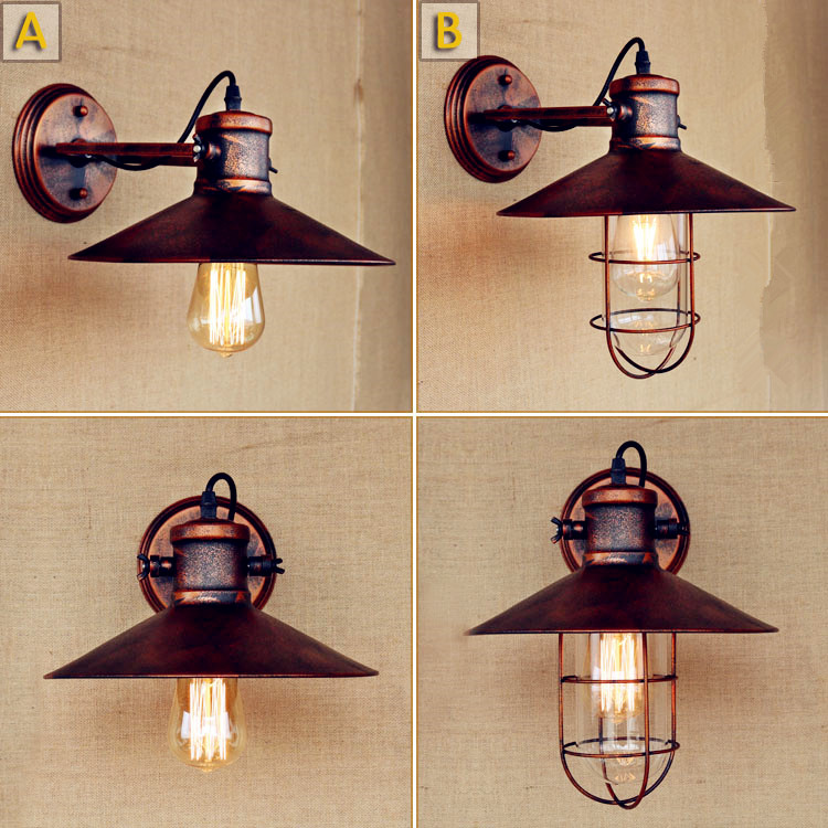 Arandela Loft style Retro Vintage Wall Light Fixtures Stair Lights LED Edison Industrial Wall Lamp Sconce Applique Muale <br>