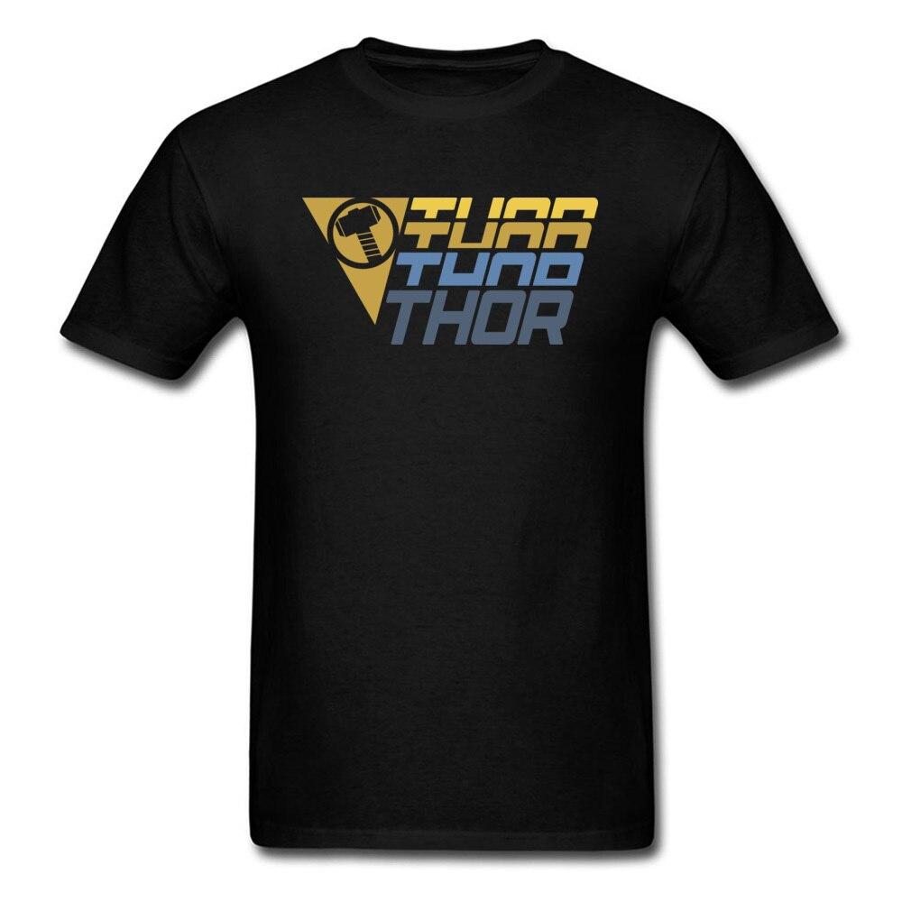 Star Wars Thor Logo Cotton Men Short Sleeve Tops & Tees Funny NEW YEAR DAY T Shirts Geek Tshirts Designer O Neck Thor Logo black