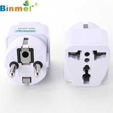 Factory Price Binmer Universal UK US AU to EU AC Power Plug Travel Charger Adapter Outlet Converter 160823