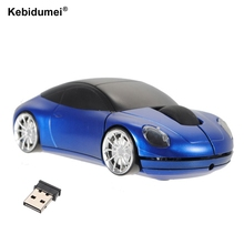 Kebidumei New Mini 2.4Ghz 800DPI 10m Wireless Car Shape Colorful USB Optical Mouse Mice For PC Laptop Notebook Home Use