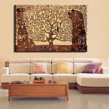 2016 New Special Offer No Fallout Huge Gustav Klimt Giclee Print Canvas Wall Art Home Decor Living Room Painting Large Cheap