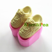 Mom&Pea 0412 Free Shipping Sport Shoes Shaped Silicone Soap Mold Cake Decoration Fondant Cake 3D Mold Food Grade Silicone Mould(China)