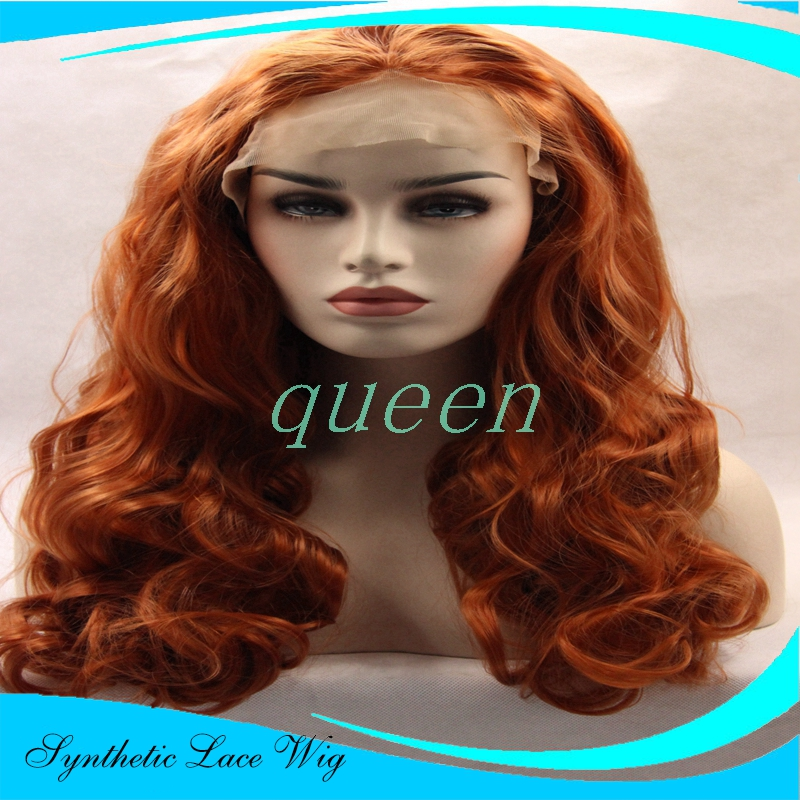 Cheap Long wavy wigs synthetic lace front wigs for black women glueless synthetic front lace wig heat resistant hair  <br><br>Aliexpress