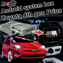 Android 4.4 5.1 GPS Navigation Box for Toyota Prius 2016 4th Gen video interface WiFi Waze Youtube Pioneer Unit
