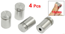 4 x Stainless Steel 16mm Diameter 25mm Length Advertising Nail Barrel Screw(China)
