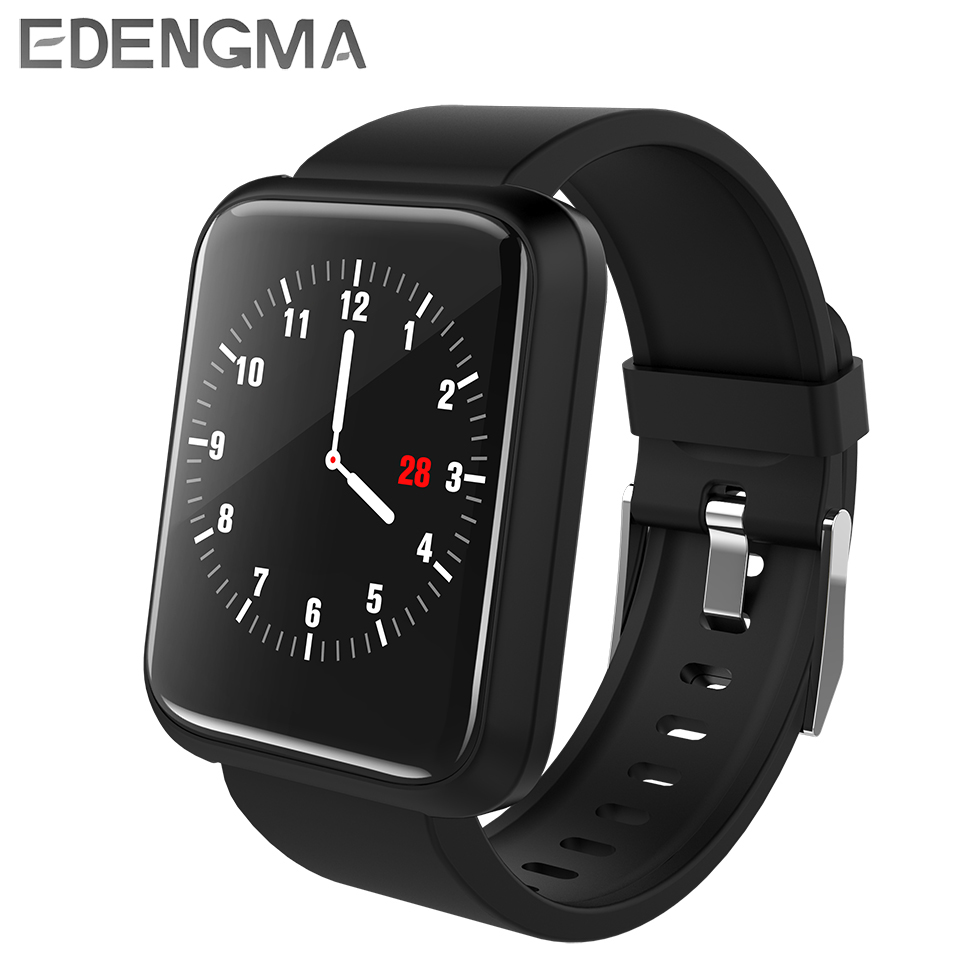 EDENGMA Smart Wristband Sport3 Blood Pressure Oxygen Heart Rate Monitor HD Color Screen Remote Music Control Bluetooth Bracelet