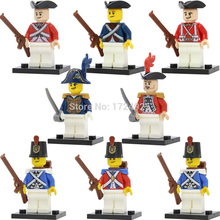 8pcs/set Imperial Governor Guard Figure Chief Royal Navy Pirate Building Blocks Soldier set model Bricks Toys