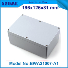 1 piece free shipping powder coating aluminium junction housing box for waterproof router case 81(H)x126(W)x196(L) mm