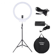 YONGNUO YN308 LED Ring Light Video Light Wireless Remote Photography Lighting with Light Stand and Power Adapter for Photography
