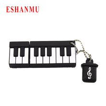 Hot Selling mini piano music usb flash drive 4GB 8GB 16GB keyboard usb stick cartoon memory Stick music flash drive cartoon gift(China)