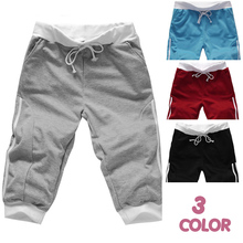 New 2014 Spring & Summer Free Shipping Hot Capris Men Casual Short Pants Capris Trousers Men Sweatpants Clothing M-XXL