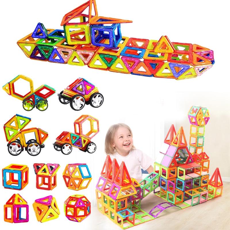 DIY Mini Magnetic Constructor Designer Construction Set 3D Mode Bulding Magnetic Blocks Educational Toys For Children Kids Gift<br>