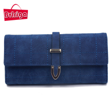 BVLRIGA Brand Plaid Nubuck Leather Female Wallet Women Purse Coin Credit Card Holder Business Travel Lady Clutch Bag Organizer