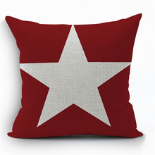 Red Couple Nordic Europe Creative Cotton Linen Geometric Plaid Office Chair Cushion Cover Home Decor Sofa Throw Pillow Case e592