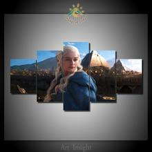 HD printed Game of thrones daenerys 5 Pieces/set Wall Art  Paiting Canvas Paints Home Decor Printed Painting Wall Art Picture