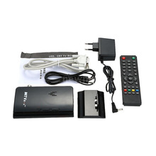 External HD LCD CRT VGA External TV Tuner MTV Box PC BOX Receiver Tuner HD 1080PTV Box AV To VGA With Remote Control(China)
