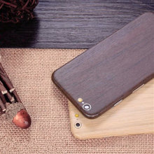 for iPhone 6 6S 6s Plus Luxury Cool 4 Color Wood PVC Full Body Skin Sticker Fashion Cool Front DIY Back Cover Film high qulity