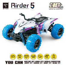 High Speed 4WD 1:24 40KM/H 2.4G 5 Monster Trucks with Remote Control Off Road Motorcycle Outdoor RC Car For Children Toys Gift(China)