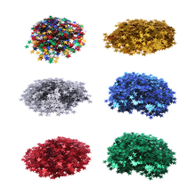 4000pcs/set StarsTable Confetti Sprinkles Birthday Party Wedding Decoration Sparkle Blue Gold Silver Green Metallic Stars Supply