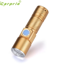 Super USB Flashlight Light Bag Rechargeable Flashlight Zoomable Lamp 170308 Drop shipping(China)