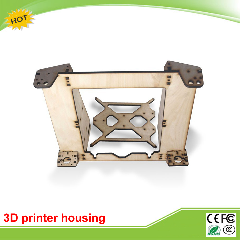 3D Printers Reprap Mendel Prusa I3 linden wood frame housing an upgraded version of 6mm<br>