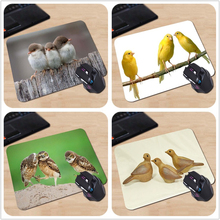 New Arrival Three Small Birds Cute and Lovely Customized Mouse Pad Computer Notebook Mice Mat Durable Non-Slip Rubber Mousepad(China)