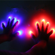 Funny Luminous Colorful Light Fingers Bar Night Club Magic Performance Props Christmas  Party Supplies