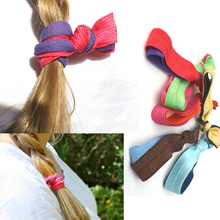 CHOMI solid double colored 340pcs wholsale Emi Jay Like hair accessories  elastic hair band Rope Ponytail  yoga Hair Ties