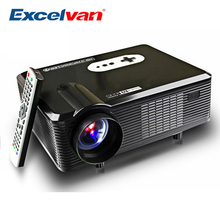 Excelvan CL720 LED Projector 3000 Lumens 1280 x 800 HD LCD Projector Analog TV Interface For Cinema Home Entertainment PK GP90
