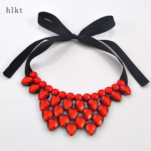 hlkt   Crack, heart-shaped resin necklace fashion accessories short statement necklace gift wholesale women
