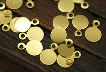 100 pcs Raw Brass Cabochon Tags , Stamping Tags (6 mm) brs 88(China)