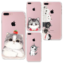 Painting Phone Cases for iphone 6 6s 6Plus 7 7s 7plus Soft Slim TPU Skull Eye Animals Cute Cat Pattern Mobile Phone Cover Case