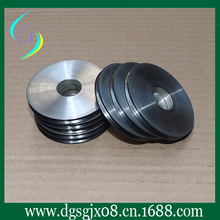 Custom ceramic  coated aluminum wire guide pulley for Filament lighting industry