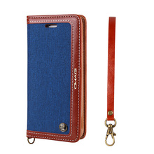 Lanyard Magnetic Flip Canvas Leather Luxury Card Holder Wallet Book Case For Iphone 7/7 Plus 6/6S Plus Phone7 Cover Shell Coque