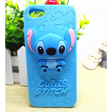 3D Cartoon Cuties Stitch Silicone Soft Cover Back Phone Cases For iPhone 4 5 6 4g 5g 6G 4S 5S 5SE 6S Plus SE 7 plus fundas capa