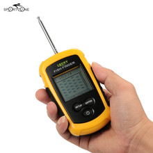 LUCKY FFFW1108-1 Wireless Fish Finder Sonar Sensor Transducer LCD Fishfinder Sound Alarm 40M Depth Range Fish Detector Pesca